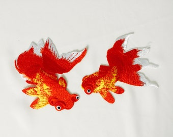 gorgeous goldfish patch/iron on patch/embroidered patch/high-quality/patch for jacket