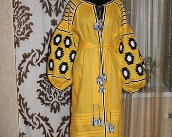 Boho Clothing Ukrainian Dresses Abaya Dubai Open Caftan Dress Custom Embroidery Bohemian Clothes Vyshyvanka Woman Vishivanka Long Sleeve