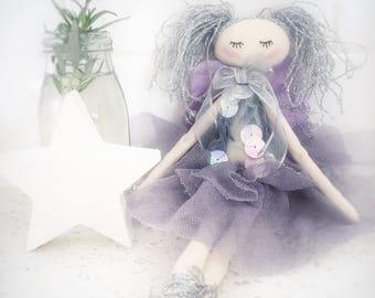 Handmade Cloth Fairy Doll 31 cm tall by NoosaForestFairies