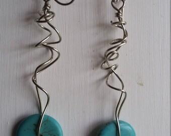 Free Form Drop Earrings