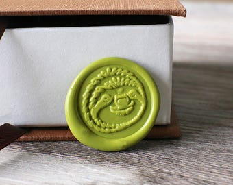 Sloth wax seal stamp kit, cute animal wax seal, wedding envelope seal,party wax seal stamp set