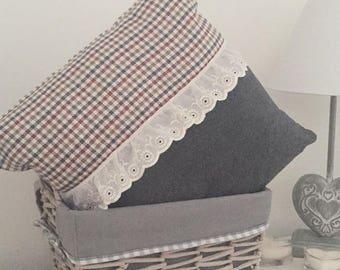 Gray & Check Luxury Handmade Cushion