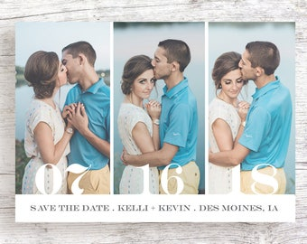3 Photo Series Save the Date - Printable/Customized