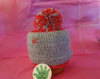 Red & Grey Bobble