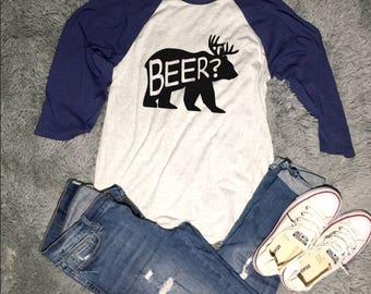3/4 Sleeves Beer? Shirt