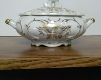 Vintage Norcrest Golden Anniversary Sugar Bowl B-163
