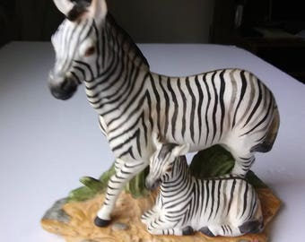 Zebra and Baby Vintage figurine