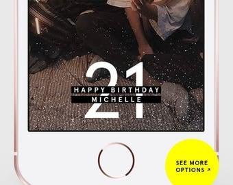 Snapchat Filter Birthday, Snapchat Geofilter Birthday, Birthday Snapchat Filter, Birthday Snapchat Geofilter, Birthday Filter, 21st Birthday