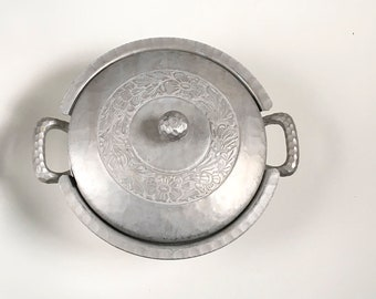 Hand forged Everlast metal, Rustic covered dish