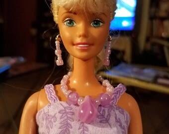 Barbie jewelry,  Barbie necklace,  Barbie earrings