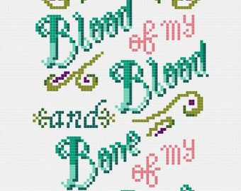 Outlander Vows Cross Stitch (PDF) modern contemporary