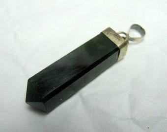 29 Carats Beautiful Nephrite Jade Pendant , Nephrite Jade Necklace , Nephrite Jade Jewelry Size 34*7mm