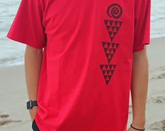 Handprinted Hawaiian Tshirt