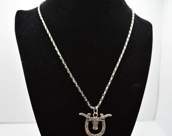 Cow-Horseshoe Jeweled Necklace