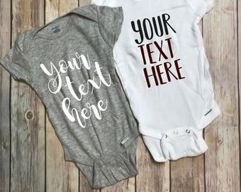 Customized/Personalized Baby Onesie
