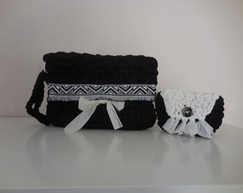 Black and white clutch elegant