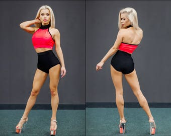 Pole Dance Top & Shorts 2pc VIA AMERICAN for Pole Dance | Gym | Yoga | Fitness | Dance | Booty | Sportswear | Activewear | Outfit | Twerk