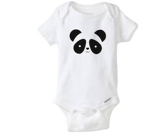 Panda Short Sleeved Bodysuit
