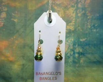 Multi-Colored Glass Bead and Swarovski Crystal Earrings