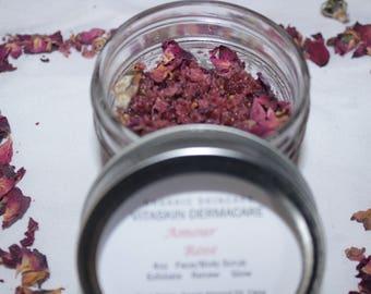Amour Rose Face/Body Scrub - Organic/Vegan Skincare