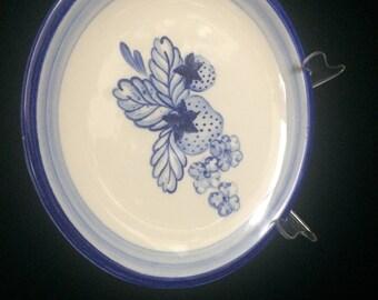 Dorchester Pottery Strawberry Sandwich Plate, K. Denisons