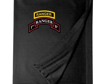 1/75th Ranger Battalion w/ Ranger Tab Embroidered Blanket-3304