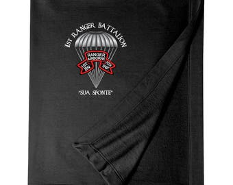 1/75th Ranger Battalion (Original Scroll)  Embroidered Blanket-3823