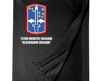 "172nd Infantry Brigade ""Blackhawk""  Embroidered Blanket-7166"