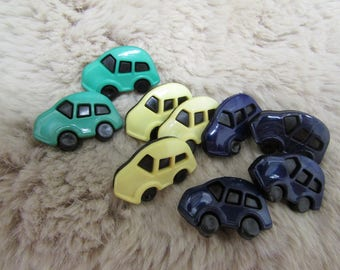 9 Car buttons sew on shank