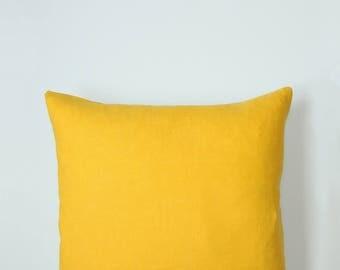 Golden yellow pillow cover