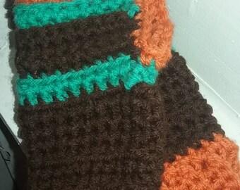 Wrist warmer: multi-colored, handmade, crocheted
