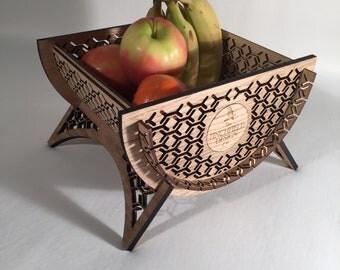 Half Moon Fruit Bowl- laser cut
