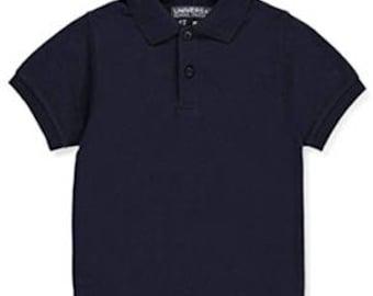 Short Sleeve Navy Polo