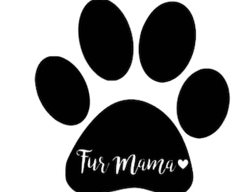Fur mama in paw