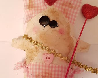 "Grungy Cupid ""Cupid Cora"" - A Rag Doll made with love Valentine"