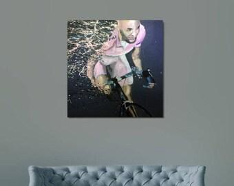Original Marco Pantani Cycling acrylic painting