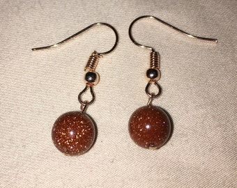 Simple Bronze Drop Earrings