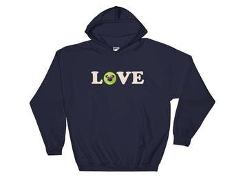 Pug Love Hooded Sweatshirt, A Pug Sweatshirt is the Best Pug Gift Around and Great for Every Pug Lover
