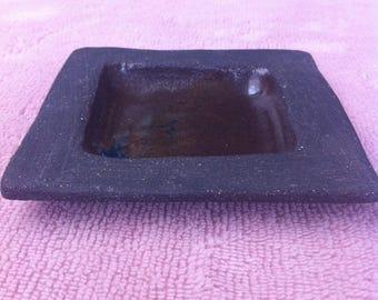 Small square black stoneware Oddments