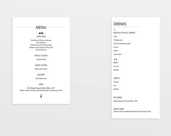 Printable Wedding Programs | Double Sided Programs  |  Wedding Day |Printable | Custom Wedding Card | On Your Wedding Day