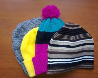 Kit of Winter Bonnets Vintage 4