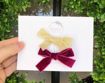 Little Velvet Bow Set