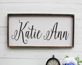 Personalized Rustic Baby Name Sign, Baby Name Nursery Sign, Nursery Decoration, Rustic Baby Name Nursery Sign, Wooden Sign for Nursery, Wood