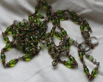 Miraculous Medal Tea Garden Rosary