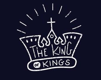 The King of Kings download // digital download // instant download // PDF // Christian // Jesus // Christian art // illustration