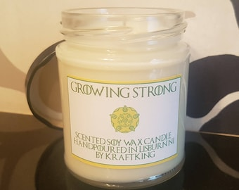 Growing Strong - Scented Soy Waz Candle 8oz Container
