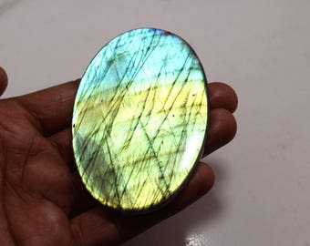 290.55cts Natural Multi flash Labradorite oval   82x53x6 mm Labradorite loose gemstone amazing & beautifull Labradorite nice flash AA-02