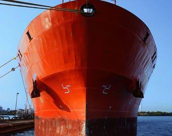 Tanker in Red
