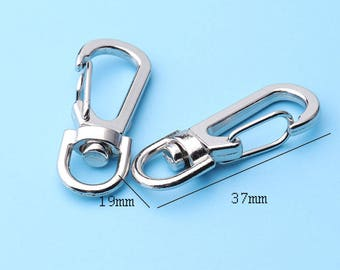 10pcs swivel spring hook 1/2 Wide Push  gate hooks Metal swivel snap hooks Belts Landyards Clips bags clips -37*19mm lx7