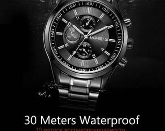 Luxury LAGMEEY Military Army Top Brand Sports Men Full Steel Wristwatch